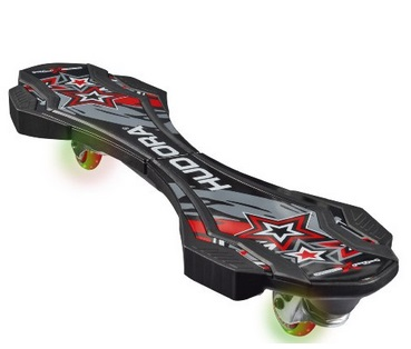 HUDORA Skateboards Huxx 2.0 LED, ABEC 7, Schwarz, 12004